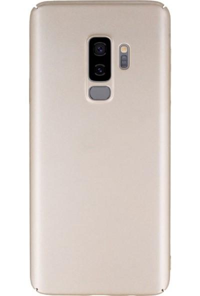 KılıfShop Samsung Galaxy S9 Plus Plus Rubber Koruma Kılıf - Gold
