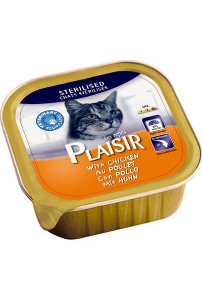 Plaisir 8'li Tavuklu Pate Kısır Kedi Maması 100 Gr