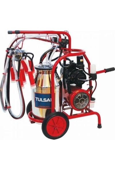 Tulsan Çift Sağımlı Krom Güğümlü Süt Sağma Makinası