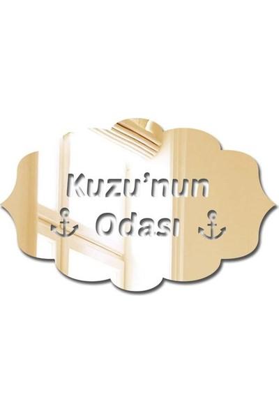 Özgül Grup Pleksi Kapı Süsü Altın Ayna - PKSA-18