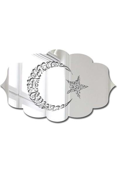 Özgül Grup Pleksi Kapı Süsü Gümüş Ayna - PKSG-11
