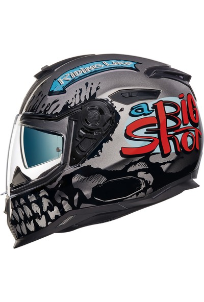 Nexx Sx100 Big Shot Gri Kask L
