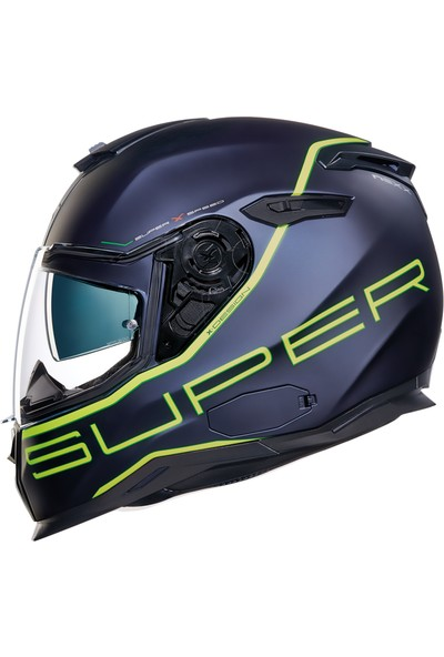 Nexx Sx100 Superspeed Mat Mavi Sarı Kask M