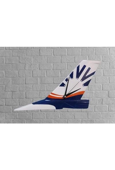 CajuArt SunExpress Dekoratif El Yapımı Uçak Kanadı Tasarım Duvar Saati