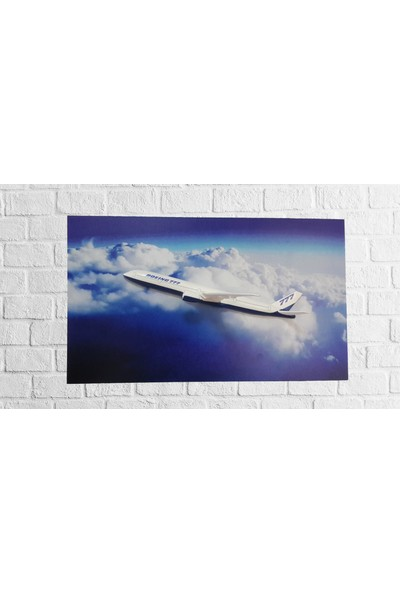 CajuArt 3D Duvar Tablosu 3 Boyutlu Uçak Maketi Duvar Tablosu Boeing