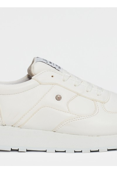 Mavi Kadın Vintage Beyaz Ayakkabı