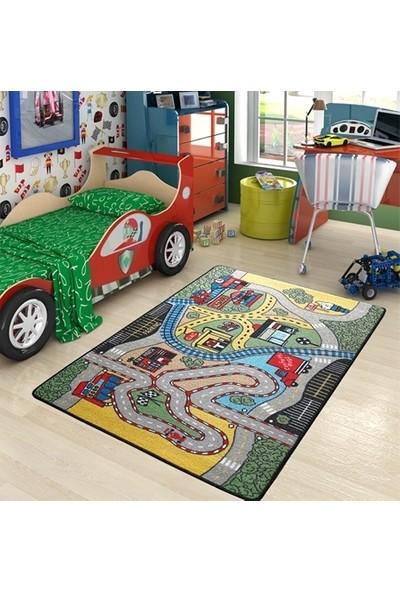 Confetti Race 133X190 Çocuk Halısı Trafik Halısı
