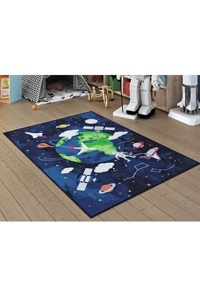 Confetti Spacetime Lacivert 133X190 Cm Çocuk Halısı