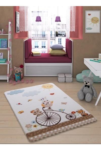 Confetti Sunny Day 100X150 Beyaz Oymali Çocuk Halısı Bebek Halısı