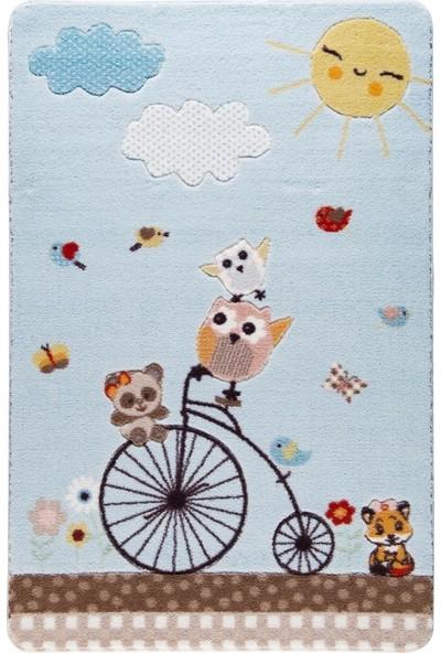 Confetti Sunny Day 133X190 A.Mavi Oymali Çocuk Halısı Bebek Halis