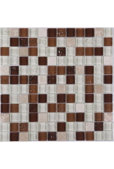 Dizayncam - Bologna Doğaltaş Cam Mix - Cam Mozaik