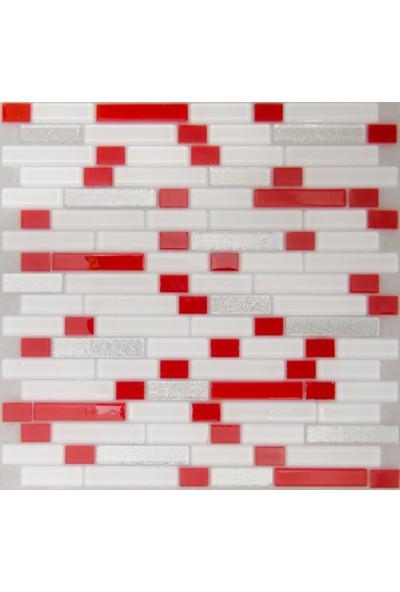Dizayncam - Nice Mix Kırmızı - Cam Mozaik