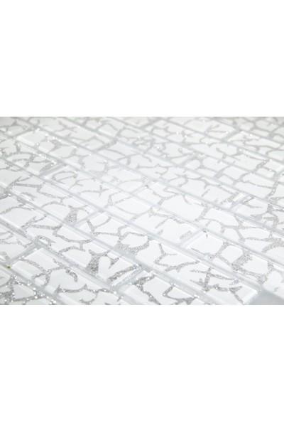 Dizayncam - Siena Mix Beyaz - Cam Mozaik