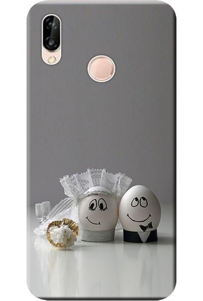 Kılıf Merkezi Huawei P20 Lite Kılıf Silikon Baskılı Yumurtaşk STK:558