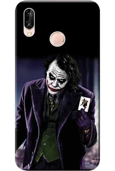 Kılıf Merkezi Huawei P20 Lite Kılıf Silikon Baskılı Joker STK:599
