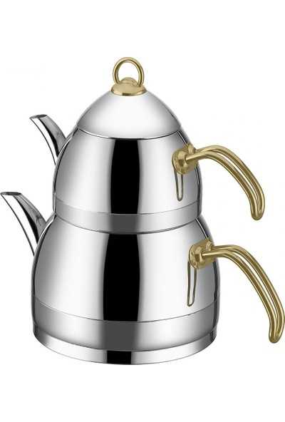 Taç Festa Aile Boyu Çaydanlık Gold