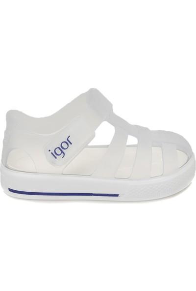 Igor S10171 Star-Ö41 Beyaz Unisex Çocuk Sandalet
