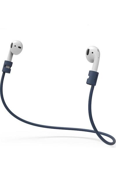 Elago Apple Airpods Strap Kulaklık Ektsra Boyun Askısı - Jean Indigo