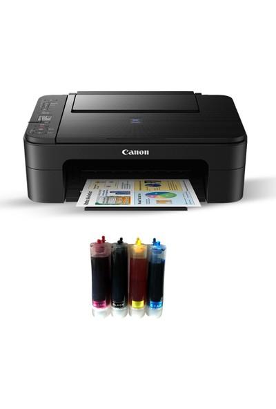 Canon Pixma E3340 Fotokopi + Tarayıcı +Wi Fi Airprint Yazıcı + Bitmeyen Kartuş Sistemi
