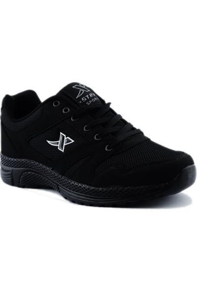 Step Erkek Spor Ayakkabı Hafif Taban K020 Siyah
