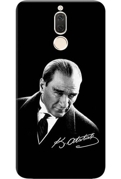 Kılıf Merkezi Huawei Mate 10 Lite Kılıf Silikon Baskılı Mustafa Kemal Atatürk STK:390