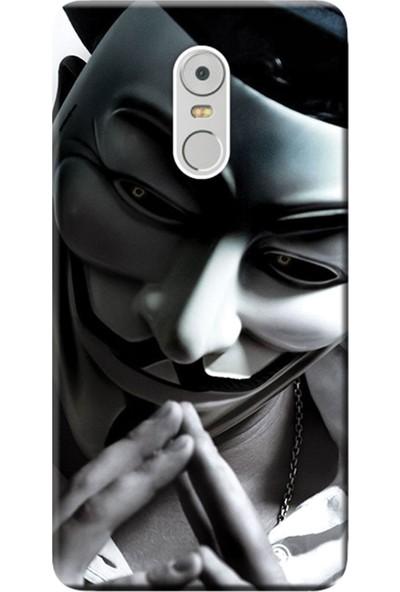 Kılıf Merkezi Lenovo K6 Note Kılıf Silikon Baskılı Anonymous STK:602