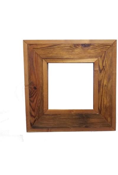 ByBaykuş Eskitme Ayna Naturel