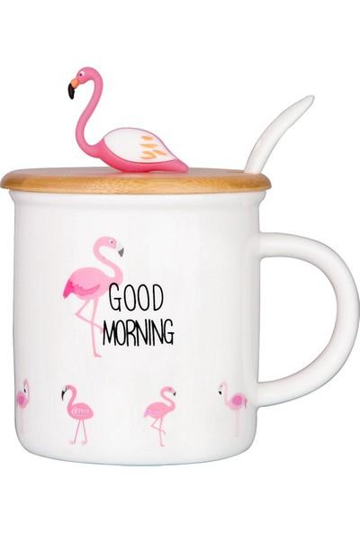 Miamantra Flamingo Temalı Kapaklı Kupa