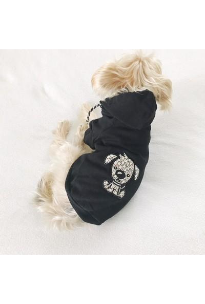 Kemique Black Dog Köpek Sweatshirt Tashli By Köpek Kıyafeti