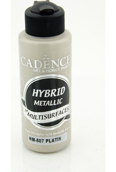 Cadence Multi Surface - Multisurface Hibrit Metalik Boya H807 Platin 120 Ml