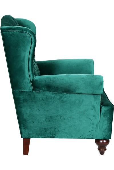 3A Mobilya Green Silk Berjer