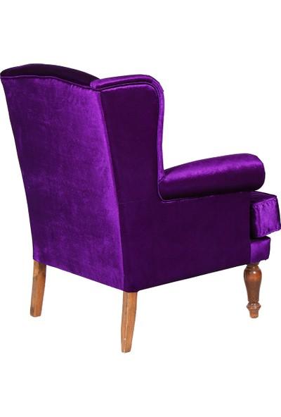 3A Mobilya New Purple Kulaklı Berjer