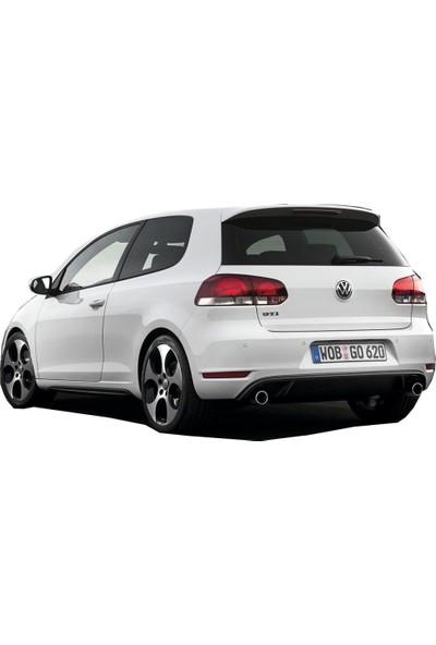 Volkswagen Golf 6 2009 - 2012 GTI Arka Tampon Eki - Difüzör (Plastik)