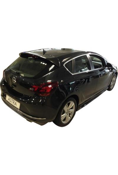 Opel Astra J HB Makyajlı 2013 - 2015 Arka Tampon Eki - Difüzör (Plastik)