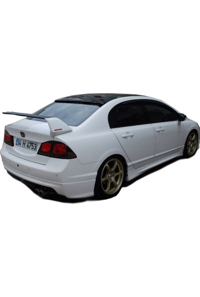 Honda Civic FD6 2006 - 2011 Mugen Arka Tampon Eki - Difüzör (Plastik)