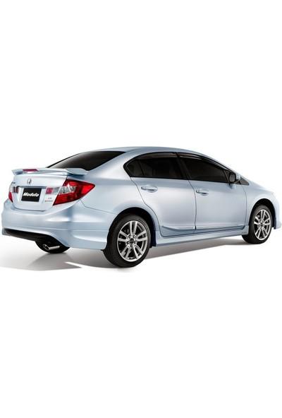 Honda Civic FB7 2012 - 2015 Modulo Black Edition Arka Tampon Eki - Difüzör (Plastik)