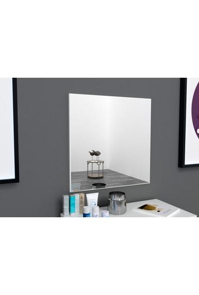 Sanal Mobilya Detroit Ayna Pano Parlak Beyaz