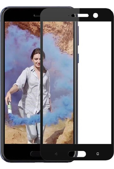 Microcase HTC U Play Tam Kaplayan Çerçeveli Tempered Cam Koruma