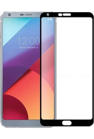 Microcase LG Q6 Tam Kaplayan Çerçeveli Tempered Cam Koruma