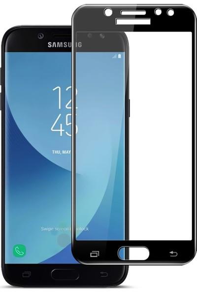 Microcase Samsung Galaxy J7 Max Tam Kaplayan Çerçeveli Tempered Cam Koruma