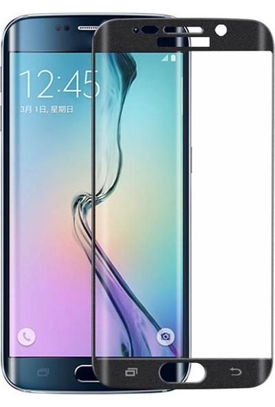 Microcase Samsung S6 Edge 3D Curved Full Ekran Tempered Glass Cam Koruma