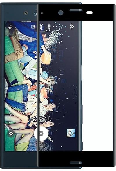 Microcase Sony Xperia X Compact Tam Kaplayan Çerçeveli Tempered Cam Koruma
