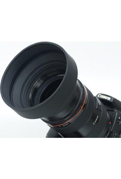 Ayex Üç Kademeli 77Mm Kauçuk Parasoley- Lens Hood