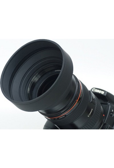 Ayex Üç Kademeli Kauçuk Parasoley 52Mm Lens Hood