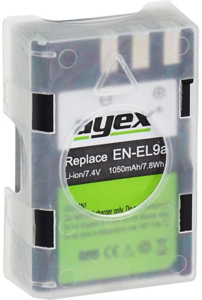 Ayex Nikon D5000- D3000- D60- D40- D40X İçin En-El9A Batarya