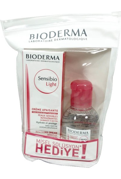 Bioderma Sensibio Light Cream 40ml + Sensibio H2O 100ml Set