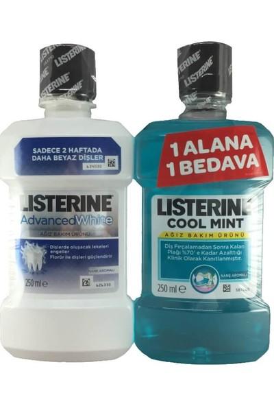 Listerine Advanced White 250ml + Cool Mint 250ml Set
