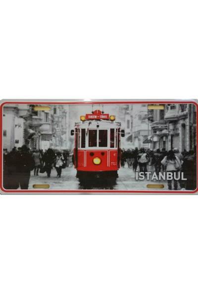 Dekoratif Plaka İstanbul İstiklal Caddesi Tramvay