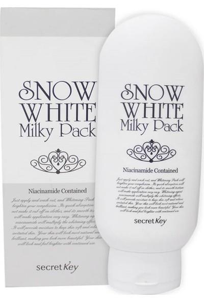 Secret Key Snow White Milky Pack - Vücut İçin Cilt Beyazlatıcı Wash-Off Maske