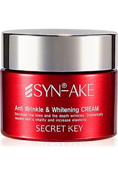 Secret Key Syn-Ake Anti Wrinkle Whitening Cream - Premium Yaşlanma Karşıtı Işıltı Artırıcı Krem